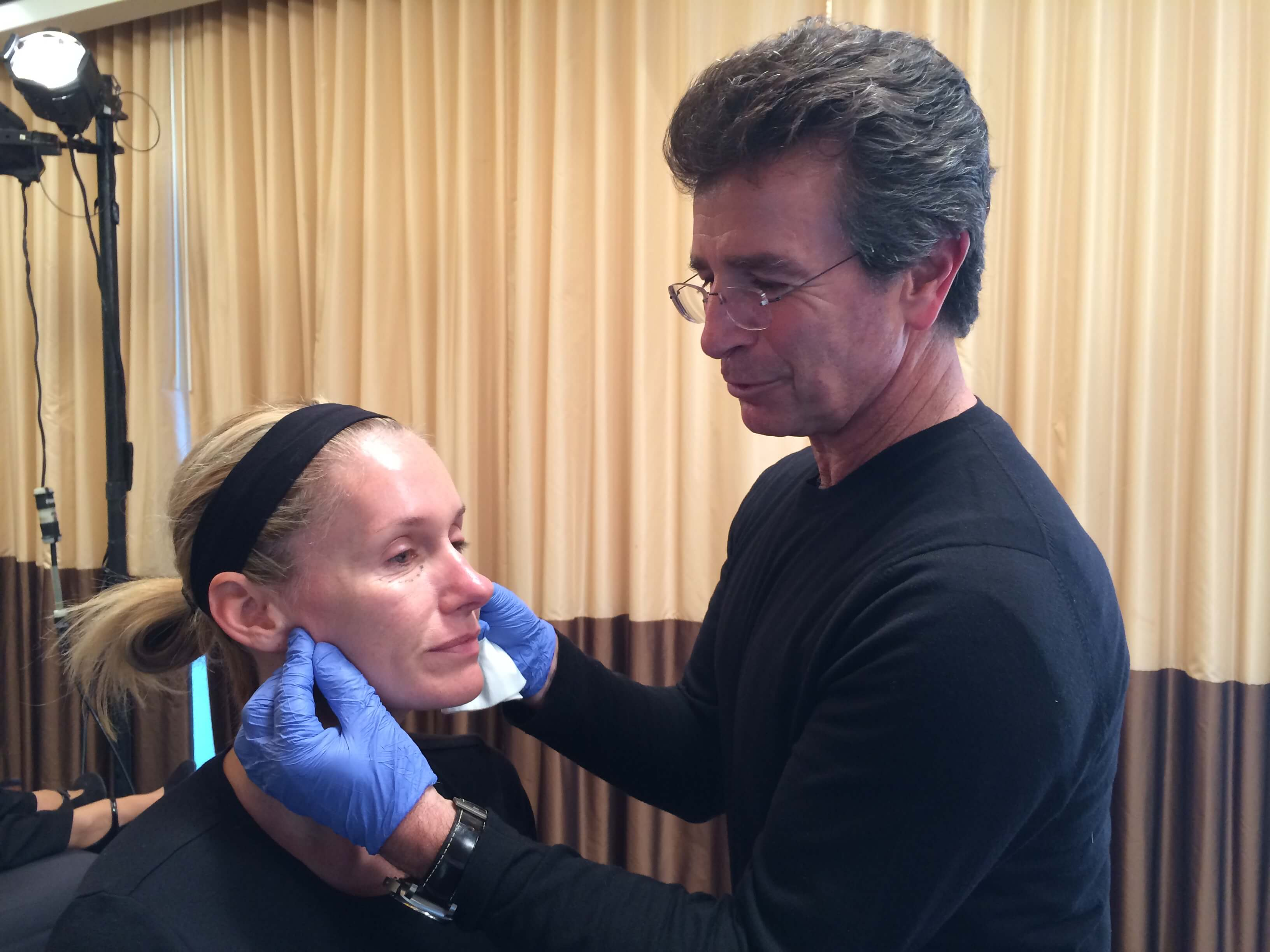 Dr. Persky treating patient