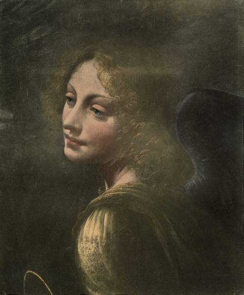 rena Head of an Angel Leonardo da Vinci