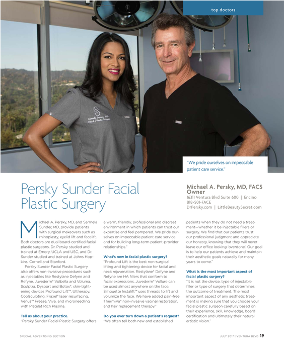 Dr. Persky and Dr. Sunder Top Docs 2017