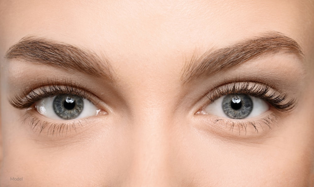 Young looking eyes that can be achieved with an eyelid surgery.
